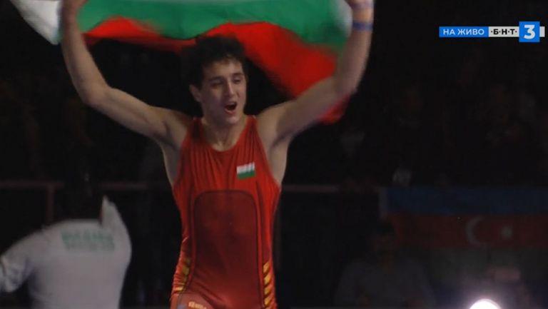 Страхотен Едмонд Назарян стъпи на европейския връх в борбата!