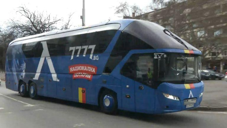 """Футболистите на Левски пристигнаха на стадион """"Васил Левски"""""""