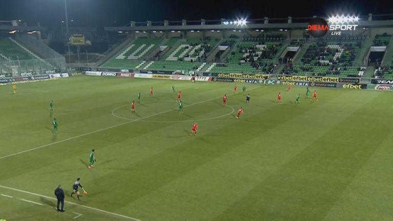 Втори гол за Якуб Шверчок и 6:0 за Лудогорец