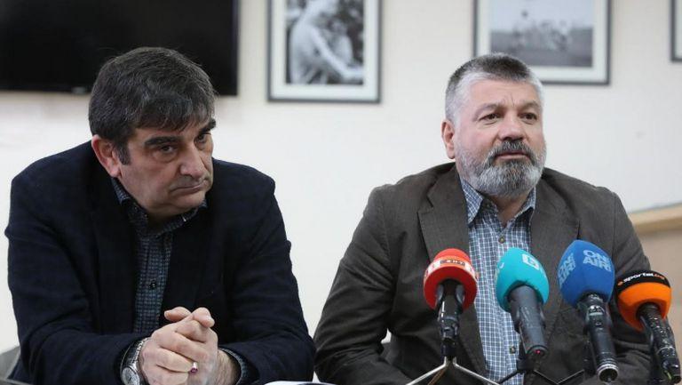 Доц. д-р Юрий Кучев и Неделчо Михайлов коментираха с журналисти работата на Дисципа и Спортно-техническата комисия към БФС