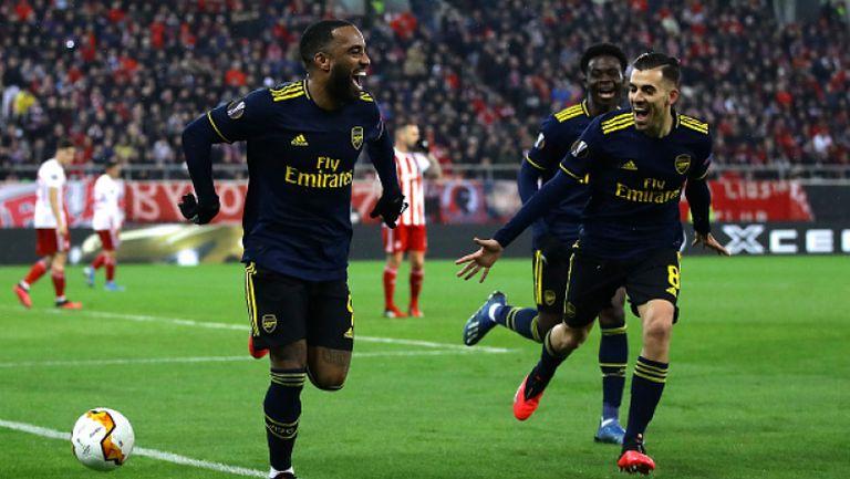 Лаказает изведе Арсенал напред в резултата срещу Олимпиакос