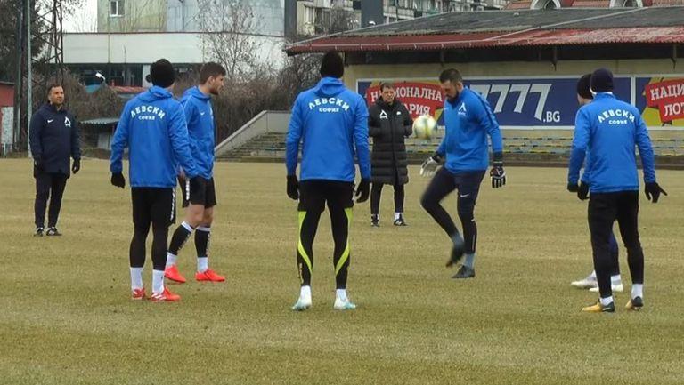 Левски с последна тренировка преди мача с Черно море