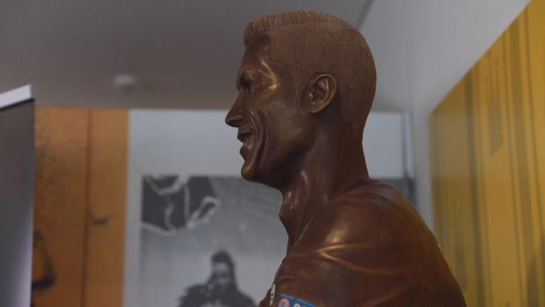 Направиха статуя на Роналдо от шоколад