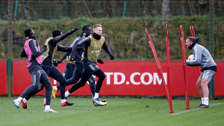Мактоминей тренира с отбора на Юнайтед