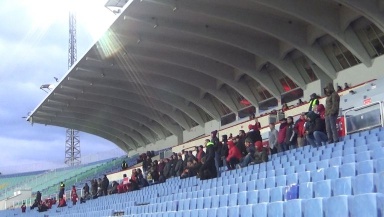 Привържениците на ЦСКА 1948 на мача срещу Монтана