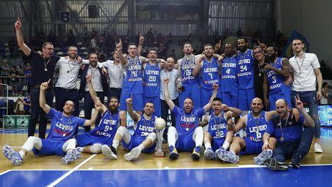 """""""Синият"""" триумф е факт: Левски Лукойл е новият шампион в НБЛ"""