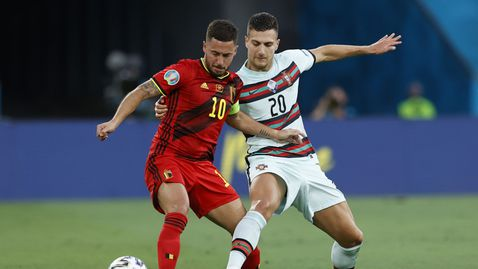 Еден Азар до последно ще бъде под въпрос за четвъртфинала срещу Италия