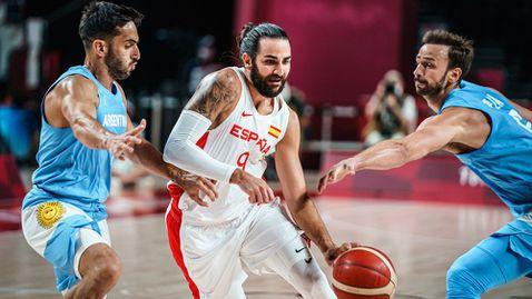 """Виртуозът Рубио нокаутира """"гаучосите"""" и изведе Испания до четвъртфиналите на Олимпиадата"""