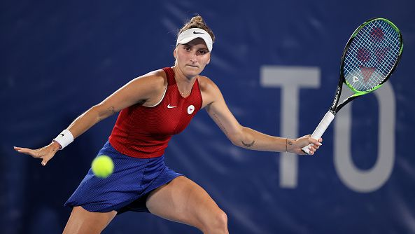 Маркета Вондроушова се класира за финала при жените на олимпийския турнир по тенис на Игрите в Токио.