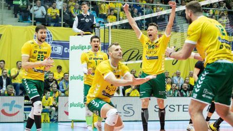 Николай Пенчев с 11 точки, Заверче удари СКРА в Полша (видео + снимки)
