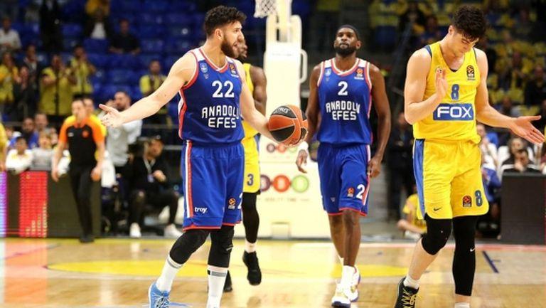 Анадолу Ефес допусна поражение срещу Макаби Тел Авив