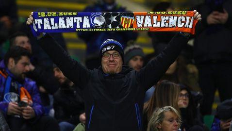 Валенсия и Аталанта ще играят пред празни трибуни, потвърдиха от УЕФА