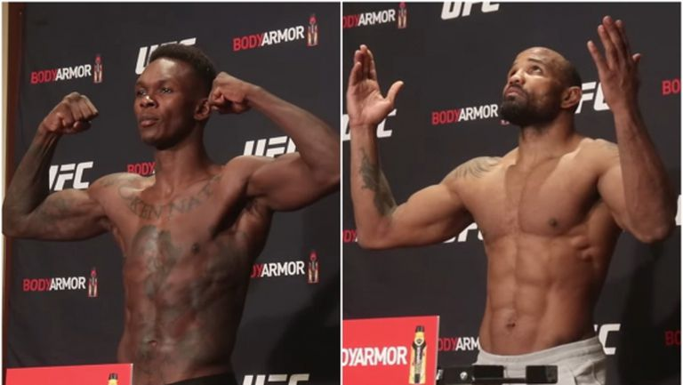 Израел Адесаня и Йоел Ромеро се справиха с кантара преди UFC 248 (видео)