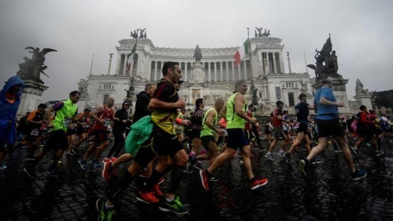 Отмениха и маратона на Рим