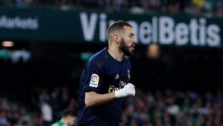 Бензема изравни Пушкаш по голове за Реал Мадрид
