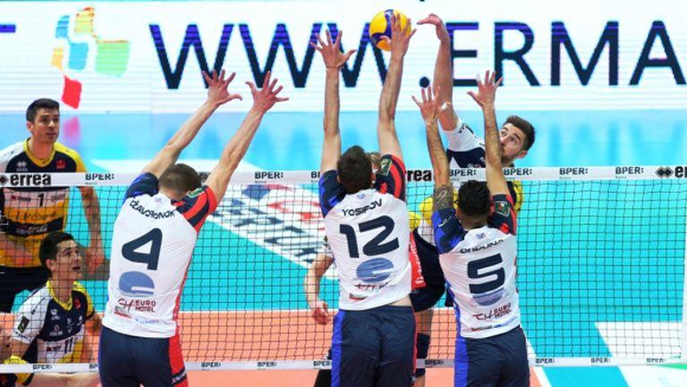 Виктор Йосифов с 6 точки срещу Модена в Италия (видео + снимки)