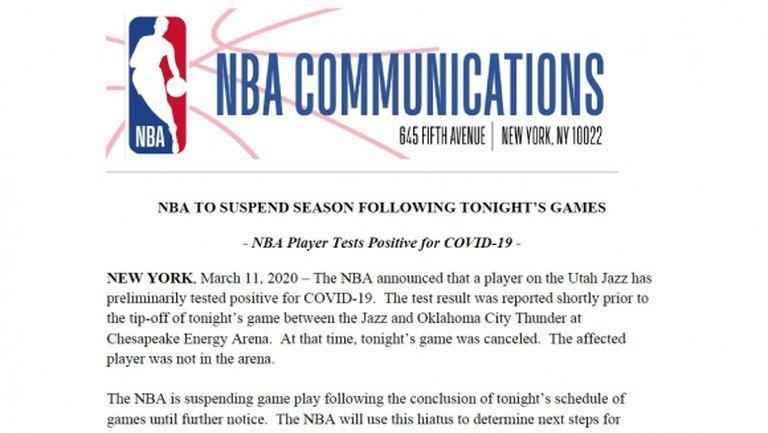 И НБА спря заради новата глобална заплаха