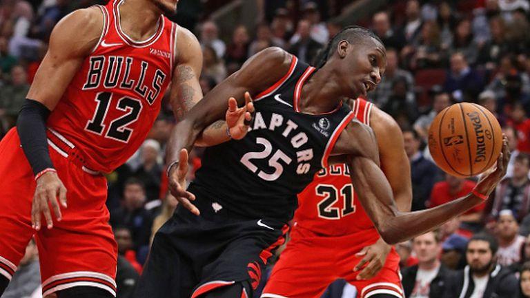 Играч на Торонто Раптърс се опита да хитрува, но не му се получи