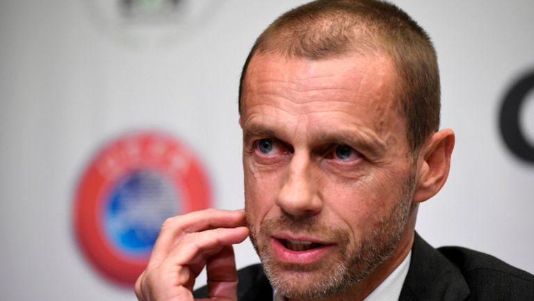 Президентът на УЕФА обясни за взетите решения