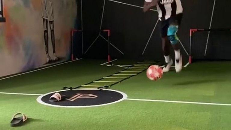 Погба тренира с фланелка на Ювентус