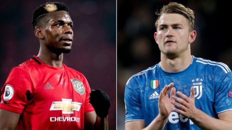 Нов вариант: Де Лихт в Ман Юнайтед, а Погба в Юве?