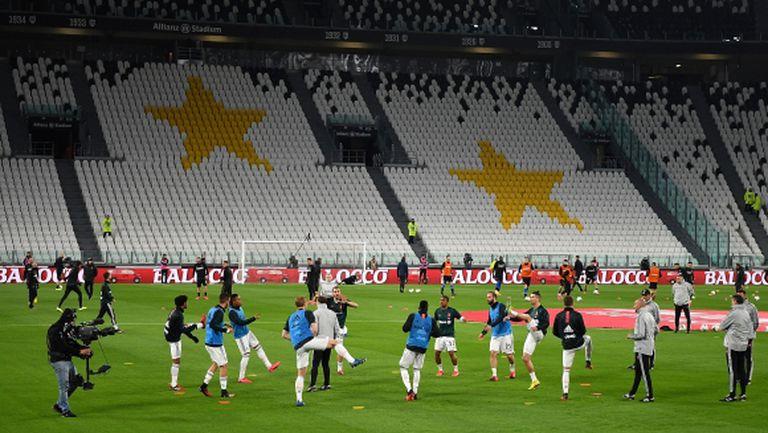 Интер и Ювентус привикват играчите си в Италия