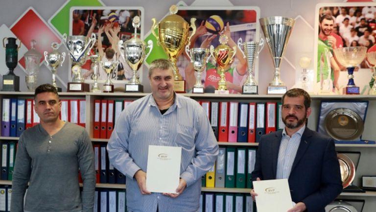 Атанас Гаров и Давид Давидов: Целта ни е развитието на волейбола