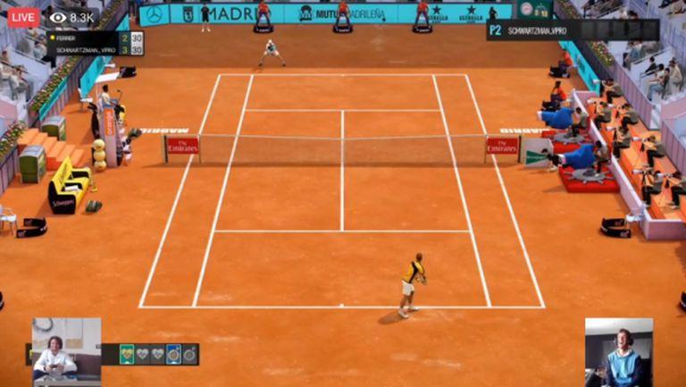 Първият мач от виртуалния Madrid Open вече е в историята