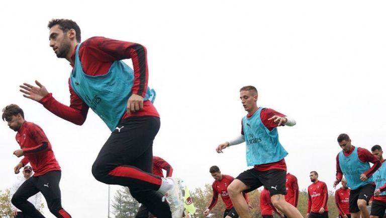 Милан подновява тренировки в четвъртък