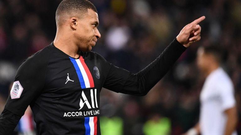 Обявиха Мбапе за голмайстор в Лига 1
