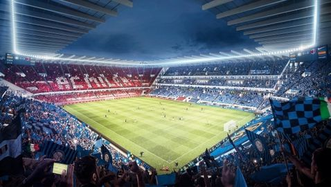 Ултрамодерният нов стадион на Милан и Интер отваря врати през 2024-а