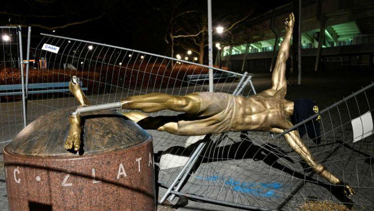 Кметството в Малмьо се предаде: местят статуята на Ибрахимович