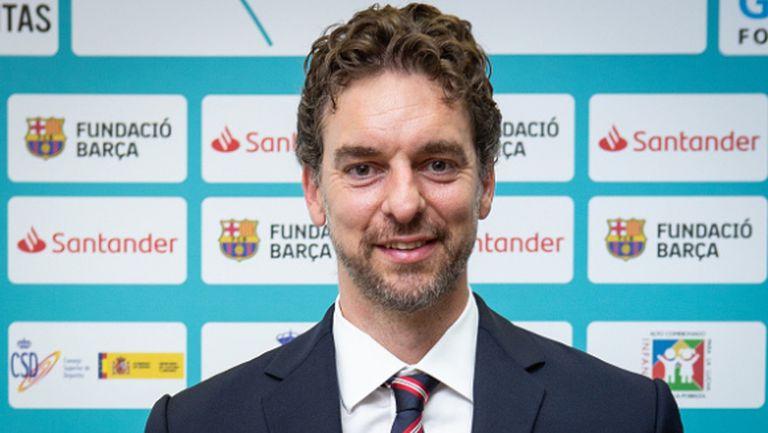 Пау Гасол похвали инициатива на Барселона