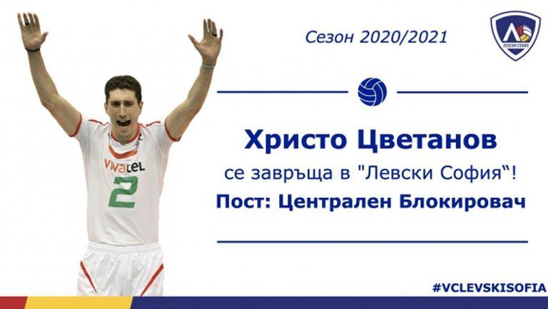 Христо Цветанов: Искам да помогна на Левски да спечели медал