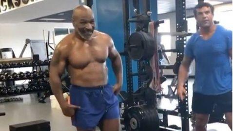Майк Тайсън тренира с Витор Белфорт