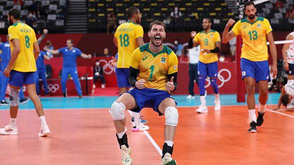 Волейболистите на Бразилия победиха САЩ с 3:1 гейма в Токио