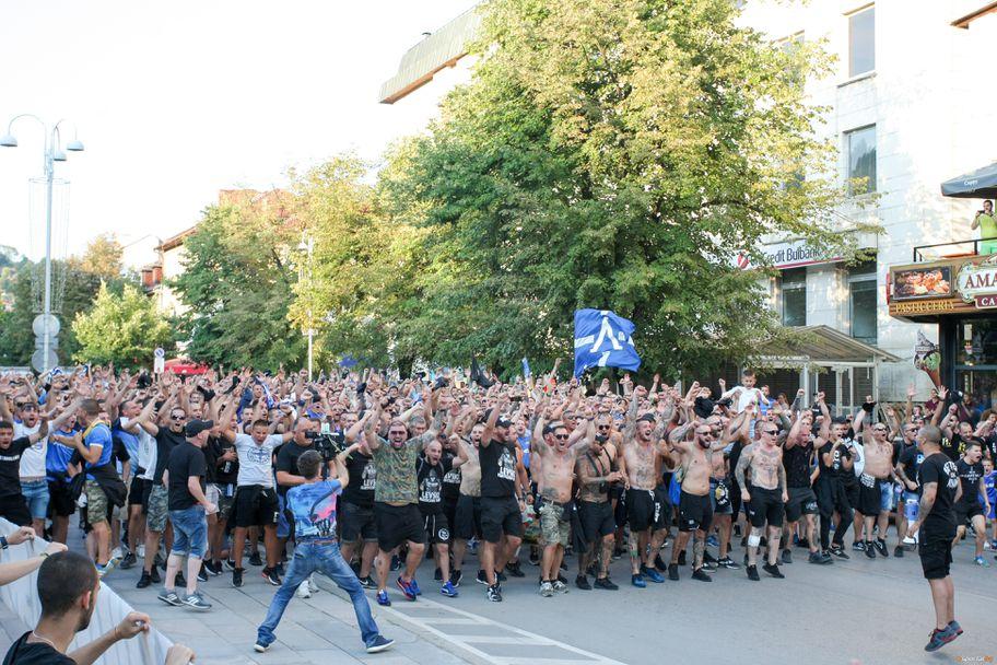 Шествие на Левски преди мача с Етър (Велико Търново)