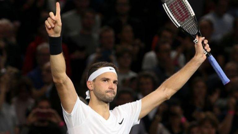 Нова победа и Григор е на 1/2-финал в Париж