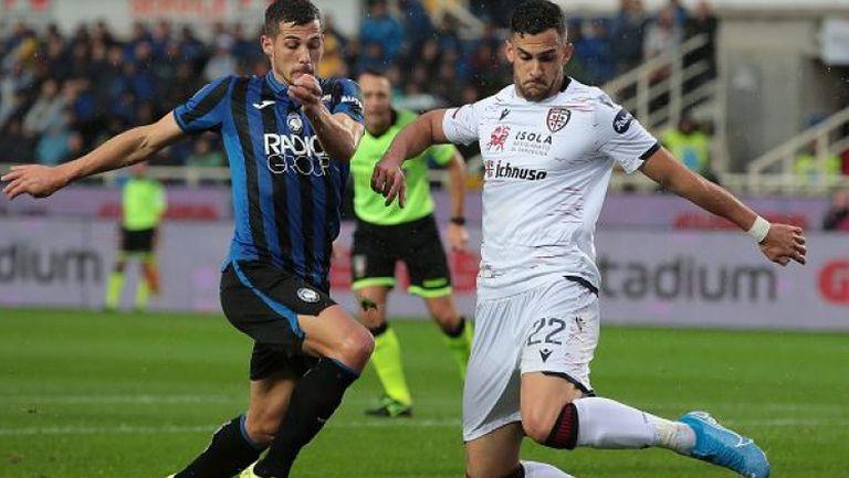 Каляри спря серията от осем мача без загуба на Аталанта