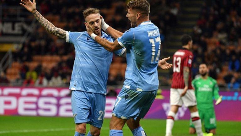 """Лацио с първа победа над Милан на """"Сан Сиро"""" от 30 години"""