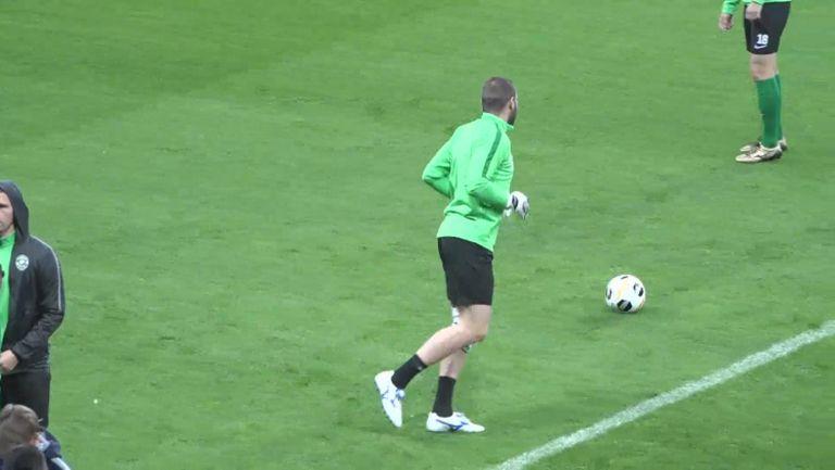 Владо Стоянов отново тренира с Лудогорец преди евро мач