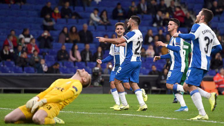 """Кошмарът за Лудогорец не спира, 3 -ти гол за Еспаньол и втори червен картон за """"орлите"""""""