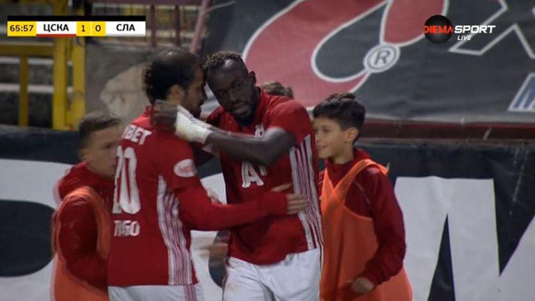 Али Соу се разписа във вратата на Славия, 1:0 за ЦСКА-София