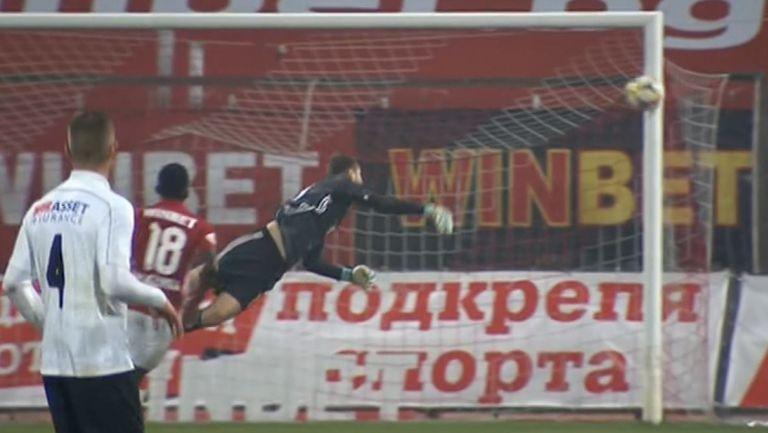 ЦСКА-София се измъкна след греда на Емил Стоев от Славия