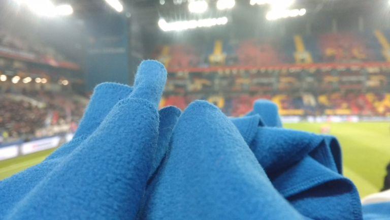 Одеяла за феновете на стадиона в Москва