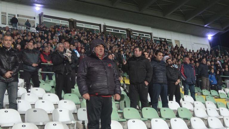 Аплаузи за Стефан Данаилов на стадиона в Стара Загора