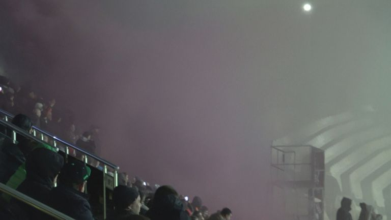 Традицията е спазена - дим в Сектор А на стадион Берое
