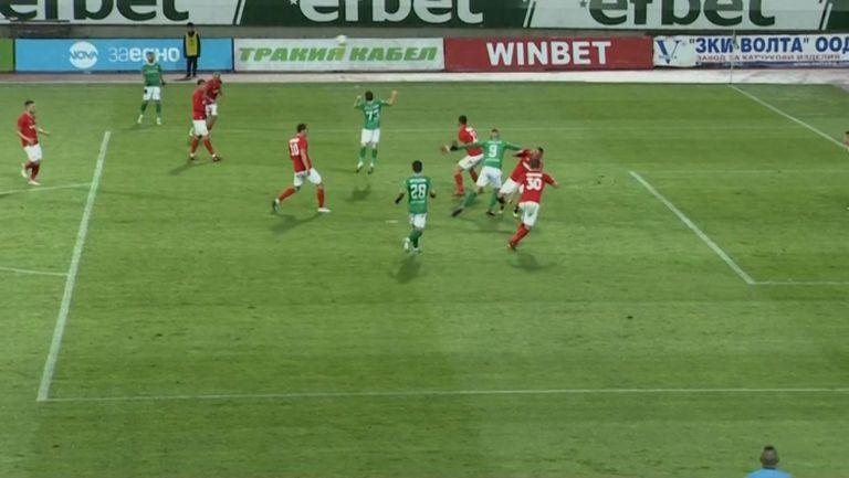Не зачетоха гол на Камбуров заради нарушение в атака
