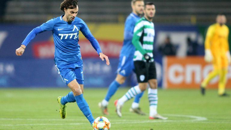 Трибуните ликуват след гола на Райнов срещу Черно море