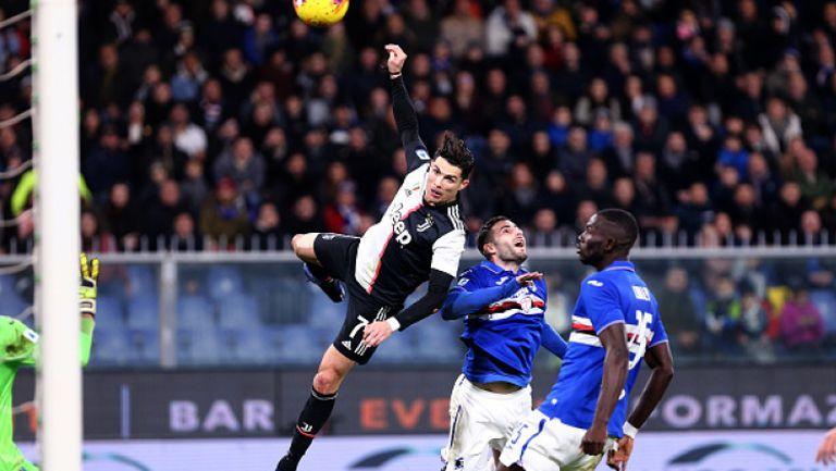 Роналдо изведе Юве до победата срещу Сампдория